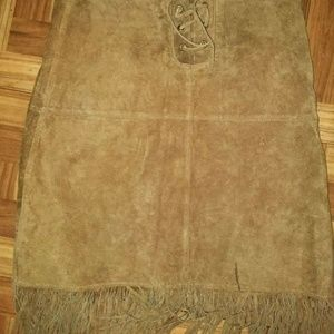 Womens size 10 suede skirt